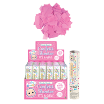 Gender Reveal 20cm Pink Confetti Shooter 24 Pack