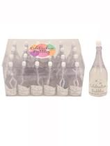 Wedding Champagne Bottle Bubbles 24pk - White
