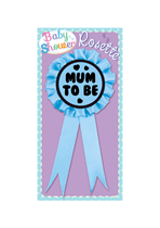 Baby Shower Mum To Be Blue Rosette