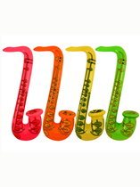 Inflatable Saxophone 75cm Assorted Colours