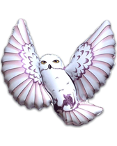 "Jumbo Flying Snowy Owl 31"" x 38"" (Loose)"