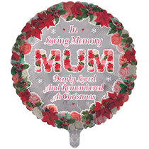 """Christmas Mum Remembrance 18"""" Round Foil Balloon"""