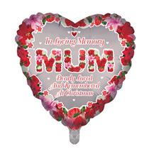 "Christmas Mum Remembrance 18"" Heart Foil Balloon"