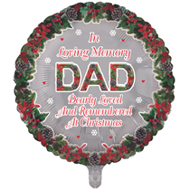 """Christmas Dad Remembrance 18"""" Round Foil Balloon"""