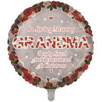 "Christmas Grandma Remembrance 18"" Round Foil Balloon"