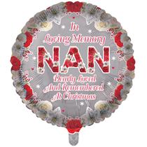 """Christmas Nan Remembrance 18"""" Round Foil Balloon"""