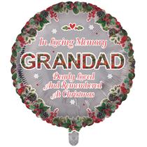 "Christmas Grandad Remembrance 18"" Round Foil Balloon"