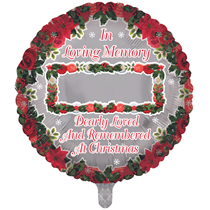 """Christmas Personalise Remembrance 18"""" Round Foil Balloon"""