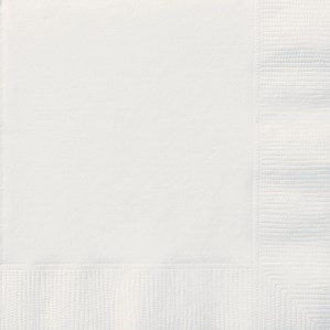 Bright White Luncheon Napkins - 20pk
