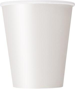 Bright White 9oz Paper Cups 8pk