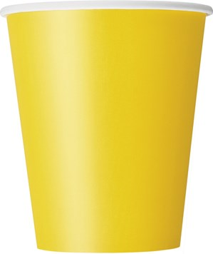 Sunflower Yellow 9oz Paper Cups 8pk