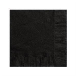 Black Beverage Napkins - 20pk