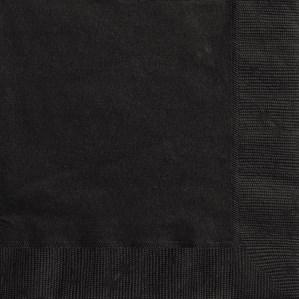 Midnight Black Luncheon Napkins - 20pk