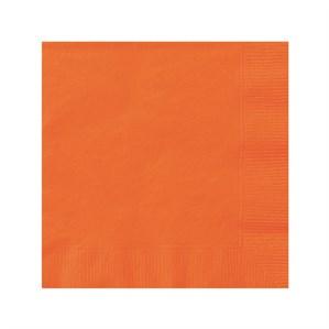 Orange Beverage Napkins - 20pk