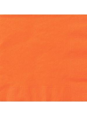 Pumpkin Orange Luncheon Napkins - 20pk