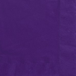 Deep Purple Luncheon Napkins - 20pk
