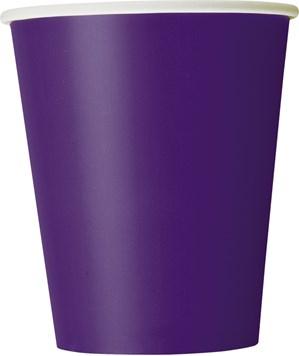 Deep Purple 9oz Paper Cups 8pk