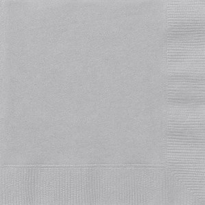 Silver Luncheon Napkins - 20pk