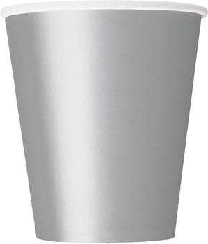 Silver 9oz Paper Cups 8pk