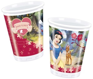 Snow White Plastic Cups 10pk