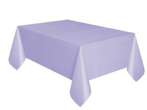 "Lavender Rectangular Plastic Tablecover 54""x 108"""