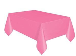 "Hot Pink Rectangular Plastic Tablecover 54""x 108"""