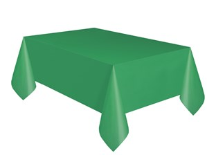 "Emerald Green Rectangular Plastic Tablecover 54""x 108"""