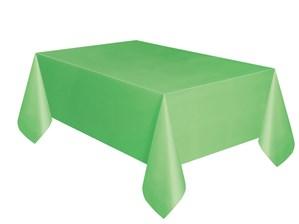 "Lime Green Rectangular Plastic Tablecover 54""x 108"""