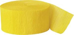 Yellow 81ft Crepe Streamer