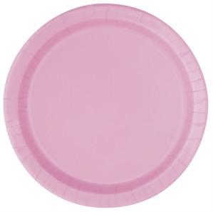 "Light Pink 9"" Round Paper Plates 8pk"