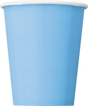 Light Powder Blue 9oz Paper Cups 14pk