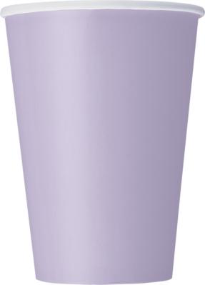 Lavender 12oz Large Paper Cups 10pk