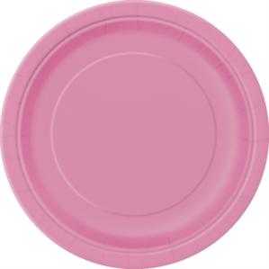 "Hot Pink 9"" Round Paper Plates 8pk"