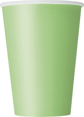 Lime Green 12oz Large Paper Cups 10pk