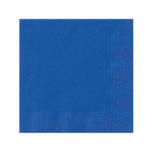 Royal Blue Beverage Napkins - 20pk
