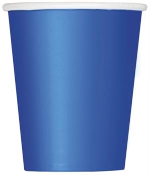 Royal Blue 9oz Paper Cups 8pk