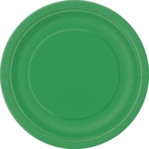 "Emerald Green 7"" Round Paper Plates 8pk"