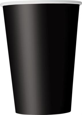 Midnight Black 12oz Large Paper Cups 10pk