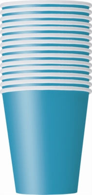 Value Pack Caribbean Teal 9oz Paper Cups 14pk