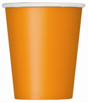 Value Pack Pumpkin Orange 9oz Paper Cups 14pk