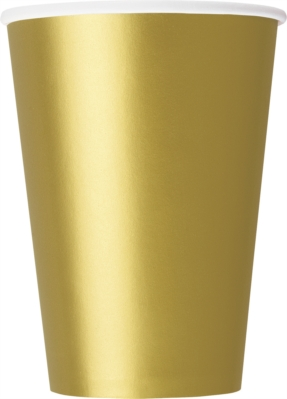 Gold 12oz Large Paper Cups 10pk