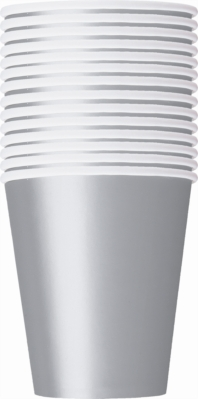 Value Pack Silver 9oz Paper Cups 14pk