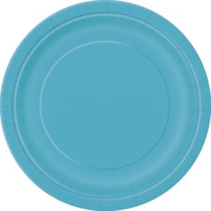 "Caribbean Teal 9"" Round Paper Plates 8pk"