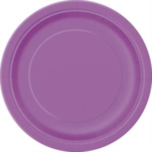 """Pretty Purple 9"""" Round Paper Plates 8pk"""