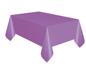 "Purple Rectangular Plastic Tablecover 54""x 108"""
