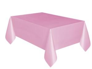 """Lovely Light Pink Rectangular Plastic Tablecover 54""""x 108"""""""