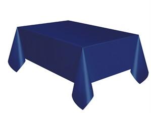 "Navy Blue Rectangular Plastic Tablecover 54""x 108"""