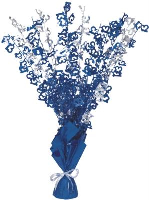 """Blue Birthday Glitz Age 13 Foil Balloon Weight Centrepiece 16.5"""""""