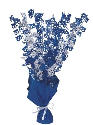 """Blue Birthday Glitz Age 18 Foil Balloon Weight Centrepiece 16.5"""""""