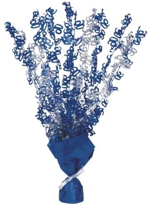 """Blue Birthday Glitz Age 90 Foil Balloon Weight Centrepiece 16.5"""""""